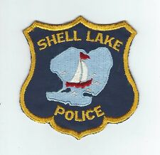 VINTAGE SHELL LAKE, WISCONSIN POLICE (CHEESE CLOTH BACK) patch