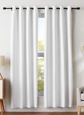 """Curtain Panels Set, White, 42""""W x 72""""L, Grommets, NEW"""