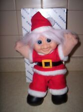 SANTA TROLL  13 INCHES RUSS? DAMM?? WITH BOX BATTERY TOY