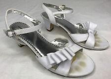 Nordstrom Little Girls White Open Toe Sandals Dress Shoes 2.5 Size 2 1/2 Wedding