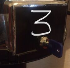 More details for 3 x sweet vending locks tower machine pringles cash box