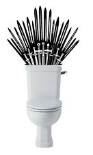 Game of Thrones Inspired Parody Iron Throne Toilet Gloss Black Decal