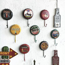 Retro Metal Sign Tin Beer Cap Cover Hook Pub Bar Club Cafe Home Plate Wall Decor