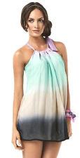 PilyQ Sherbet Swimsuit Cover up Short Dress Shirt Top L Multi-Color New