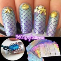 8Sheets Irregular Hollow Nail Art Vinyls Stencil Stickers Tips Stamping Tools
