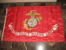 5x8 USMC Marine Marines Nylon Flag 5'x8' Gift Set Book, Pin, & Clips