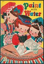 """UNCOLORED """"Paint with Water"""" #3416 Merrill 1943 LITTLE BLACK SAMBO (4887)"""