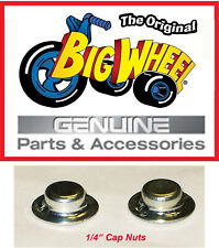 """Replacement Pair of 1/4"""" Cap Nuts for the The Original Big Wheel Trikes"""
