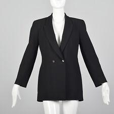 Small 1980s Claude Montana Blazer Long Sleeve VTG Pockets Black Womens Outerwear