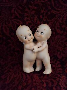 """Vintage Unmarked All Bisque Kewpie's Hugging Doll 5"""""""