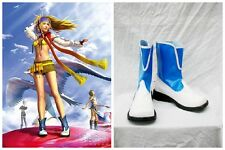 Final Fantasy 10 X-2 Rikku blau weiß Cosplay Kostüm Stiefel Boot Schuhe shoe UK