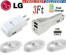 Original LG Fast Charging Wall Charger OEM Type-C Cable For LG Stylo 4 G6 G7 V20