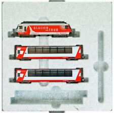 Swiss Alps Glacier Express 3 Cars Set Taken from Kato 10-006 (N scale) PRE ORDER