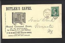 NEW YORK,NEW YORK,1888 BANKNOTE ADVT COVER, BUTLER'S SAFES,VF++ .