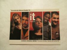 The It Factor Bravo Original series Advertising Continental Sized Postcard