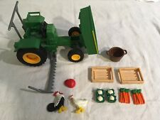 Lot 3: Playmobil Farm Tractor 3325 with Accessories - Gently Used - NO BOX
