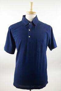 NWT Davide Cenci Luxurious Blue 100% Cotton Casual Polo Shirt 46/56 $170