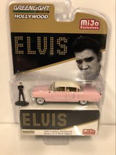 Elvis Presley 1955 Pink Cadillac with Figure 1:64 Scale Greenlight 51210