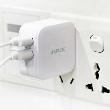 24W Dual Port USB Travel Wall Charger with Smart ID Technology for Apple Ipod