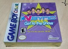 Nsync Get To The Show Gameboy Color New Sealed Justin Timberlake Game Boy