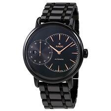 Rado Diamaster Grande Seconde Automatic Black High-tech Ceramic Mens Watch