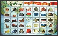 INDONESIA 2018 TRADITIONAL HEADDRESS HATS LARGE SOUVENIR SHEET OF 35 STAMPS MINT