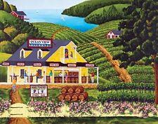 Jigsaw Puzzle Landscape Vineyard Visit 300 E Z Grip pieces NEW