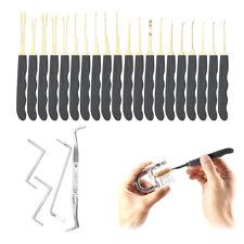 Durable 24Pcs Locks Kit Training Opening Tools Cutaway Transparent Key Extractor