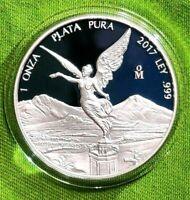 2017 1 oz Silver Libertad PROOF ! 1 Onzas Plata Pura! Mexico Mint 8,650 Only !!