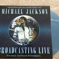 Michael Jackson 'Broadcasting Live' Blue Sparkle Ltd Edt vinyl LP Brand New