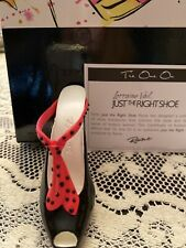 Rare Just The Right Shoe By Raine Tie One On - Nib