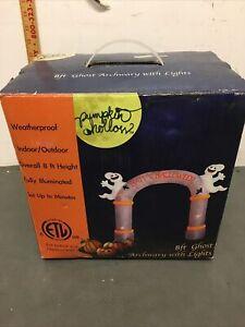 pumpkin hollow inflatable archway halloween Ghost Bat Decoration