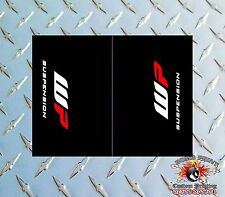 WP BLACK Upper Fork Graphics Decals stickers suspension wp
