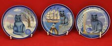 Kathia Berger, Arzberg, three cat plaques with attached hangers