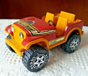 Vintage 1979 Buddy L Jeep Dune Buggy Pressed Steel Red and Yellow