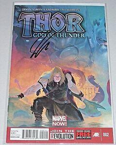 Thor: God Of Thunder #2! (2013) 1st Gorr! 1st Necrosword! Signed-Jason Aaron! NM