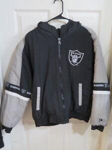 Vintage Pro Player Oakland Raiders Reversible Jacket Coat Black Youth XL YXL 20