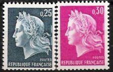Frankreich Nr.1602/03 ** Freimarken 1967, postfrisch