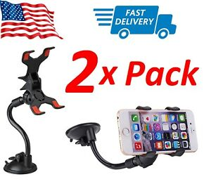 2x Universal Car Holder Windshield Mount Clip Stand for iPhone 11 XS Samsung S10