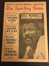 1966 Sporting News BOSTON CELTICS Bill RUSSELL No Label PLAYER COACH Chamberlain