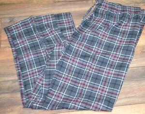 Croft & Barrow Flannel Lounge Pants Men's Big & Tall Sizes Gray Plaid