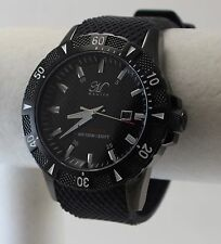 Magico Men's Swiss Quartz Invader Watch, Black IP, Black Textured Dial & Strap