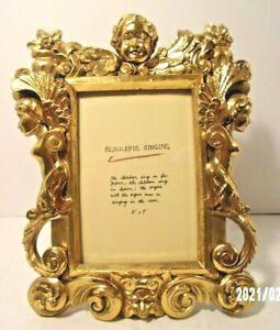 Cherub Baroque Antique Photo Frame Vintage French Ornate Rococo