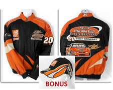 100% Leather Tony Stewart #20 NASCAR Winston Cup Racing 2002 Home Depot Jacket L