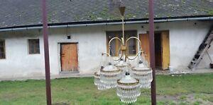 Vintage 5-bulb Chandelier from Czechoslovakian era.