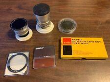 Lot 2 Schneider Kreuznach Retina f:4 / 28 mm & f:4/ 135 mm Lenses plus filters