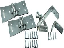 *1 x Satin Chrome Counterflap Catch With 2 Hinges 102 X 32 X 38Mm and Screws