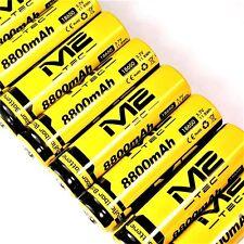 200 x m2 Tec batteria agli ioni di litio 3,7 V 8800 mAh 11,8 WH/18650 Li-ion 65 x 18mm