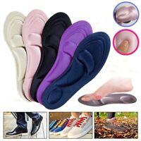 4D Sponge Pain Relief Insoles Arch Support Cut Shoe Pad Soft Foot Care USA 2H