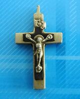 #3033# Vintage: Jolie croix religieuse/ Insigne Chrétien/Pendentif/ N.D. LOURDES